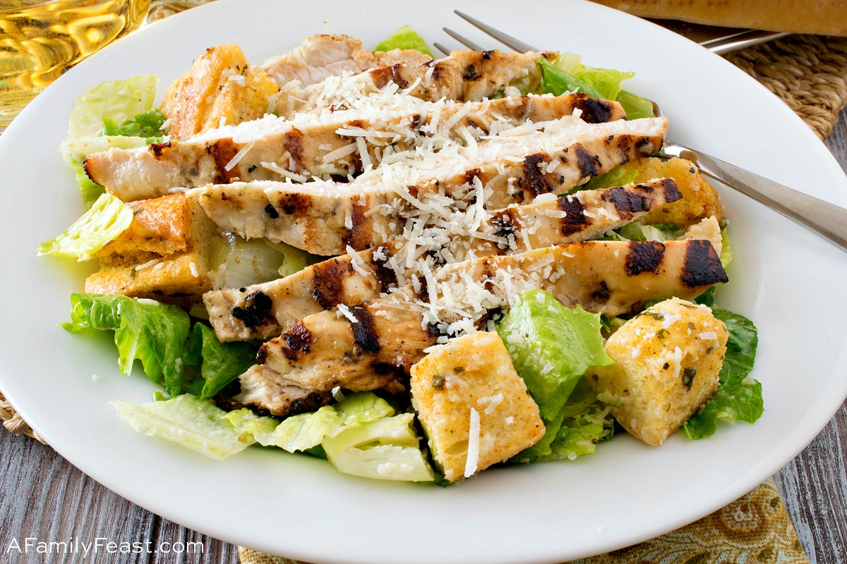 Caesar Salad with Grilled Caesar Chicken 1
